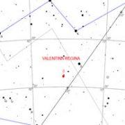 La mappa dell'osservazione astrale permette di avere i dati astrofisici della stella evidenziata e dedicata