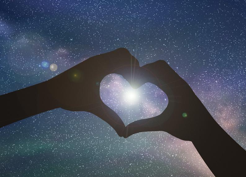 sfondo cuore regala una stella